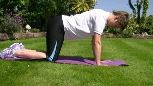 Ease back pain letting the belly relax