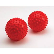 Franklin Spiked Reflex Ball Pair - 12cm in red
