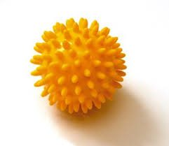 Sissel Spiky Ball 8cm Yellow 1 1