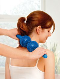 Spiky twin roller for back massage 1